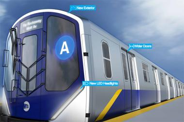 The exterior of the new subway cars will feature LED lighting, digital route markers and wider doors.