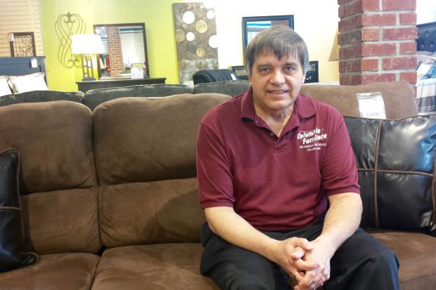 Wally Papciak, Co Owner Of Columbia Furniture. [DNAinfo/Alisa Hauser]
