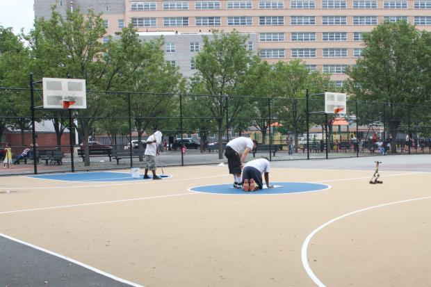 The court got the overhaul as part of the city's Community Parks Initiative.