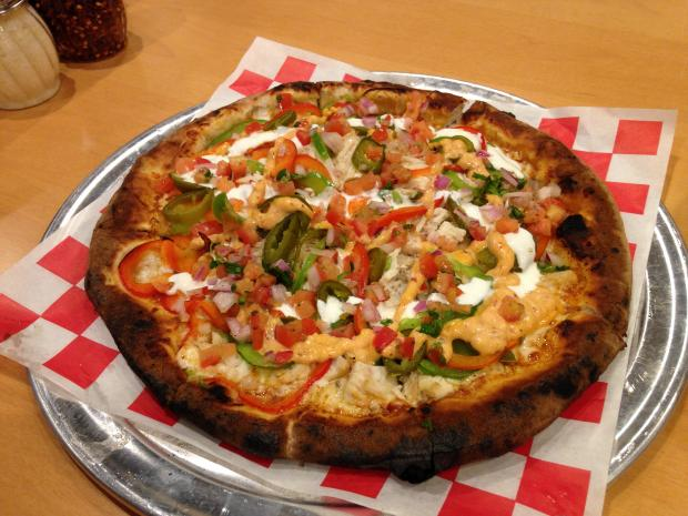 The chipotle chicken pizza has won awards for Persona.