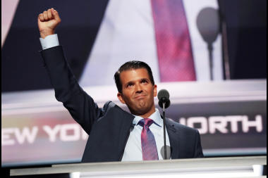 Donald Trump Jr. at the Republican National Convention in Cleveland.