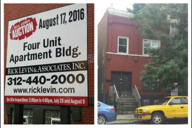 Apartment Building Auctions 1870s apartment building on damen up for auction in august - east