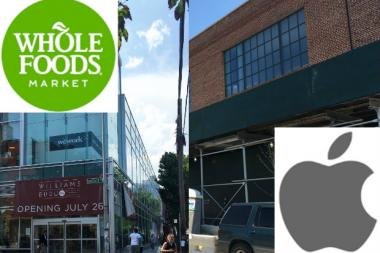 Whole Foods and the Apple Store open next week both on Bedford Avenue.