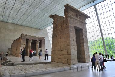 Do you see any Pokémon hanging around the Egyptian exhibit?