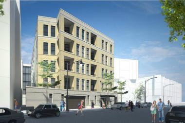 A rendering of the project at 2050 N. Clark St.