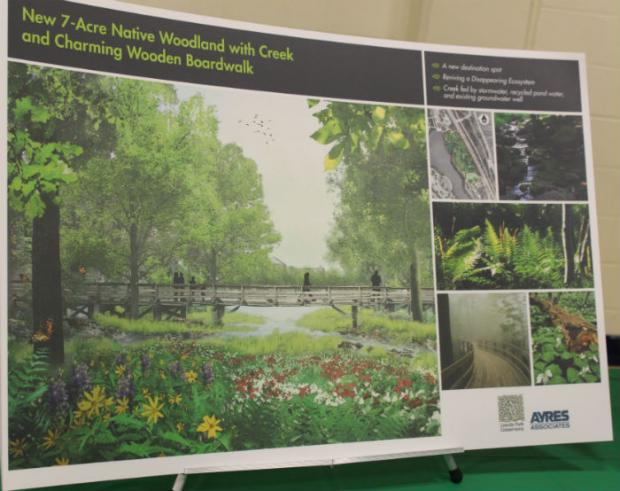 The Lincoln Park Conservancy presented images of a draft proposal for revamping the North Pond Nature Sanctuary in a meeting July 21.