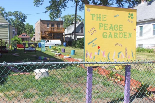 Englewood resident Vora Williams turned an empty lot into a garden on the 6100 block of West Union.
