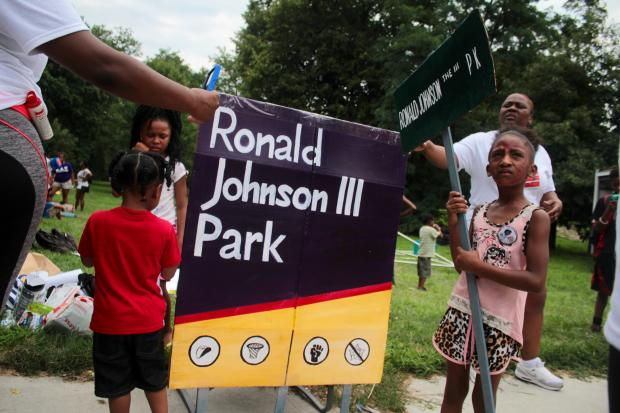 Activists are hoping to rename Washington Park in honor of Ronald Johnson, killed by police in 2014.