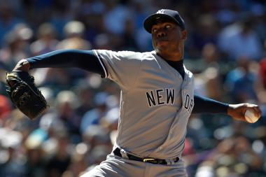 The Cubs acquired pitcher Aroldis Chapman Monday.
