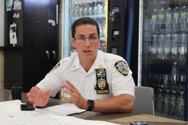 Captain Brian Bohannon, executive officer for the 113th Precinct.