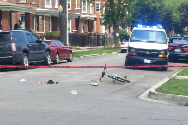 Belmont Cragin Car Crash