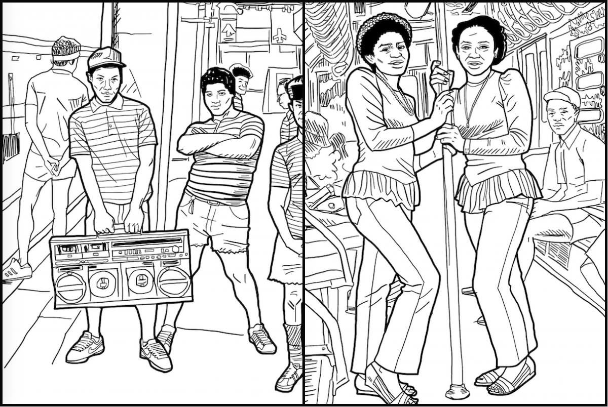 New Coloring Book Celebrates NYC\'s Old-School Hip-Hop Style ...