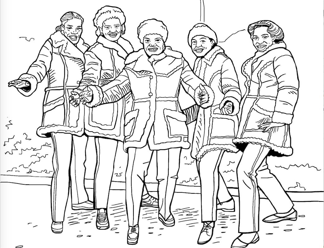 coloring pages old schoolhouse | New Coloring Book Celebrates NYC's Old-School Hip-Hop ...
