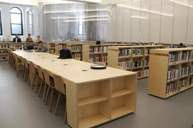 The interim Brooklyn Heights Library is now open at 209 Remsen Street.