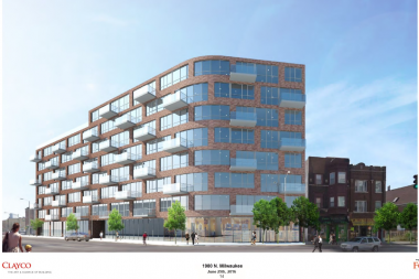 The development for 1980 N. Milwaukee Avenue was submitted for a zoning change last week.