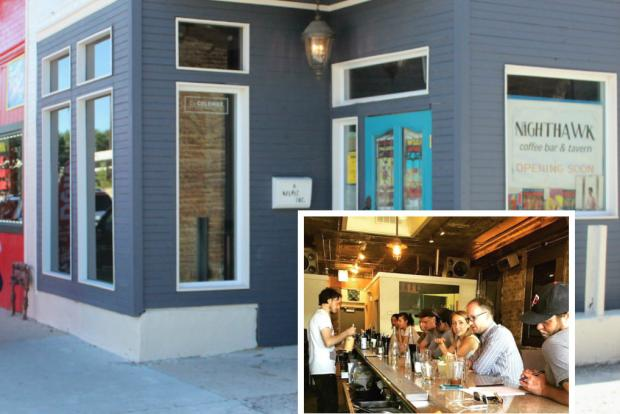 Announced in 2013, Nighthawk Coffee Bar & Tavern opened Wednesday morning.