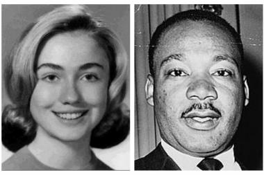 A teenage Hillary Rodham went to see the Rev. Martin Luther King Jr. at Chicago's Orchestra Hall in 1962.