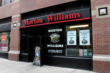 The Morton Williams at 917 Ninth Avenue, near the corner of West 58th Street.