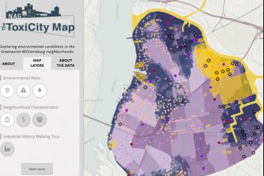 A new map charts toxins in Greenpoint and Williamsburg.