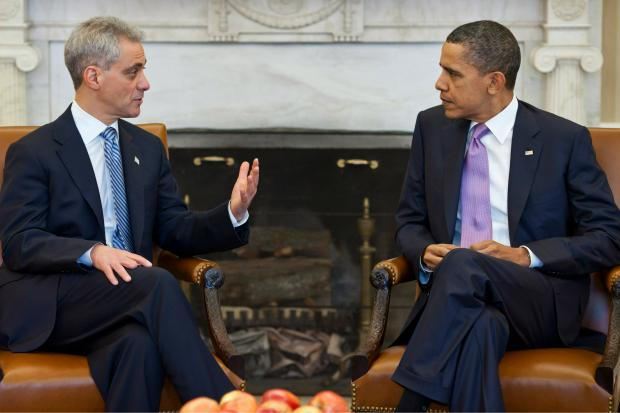 The embattled Chicago mayor was dinged by Barack Obama in prime time for his lack of support for Obamacare.