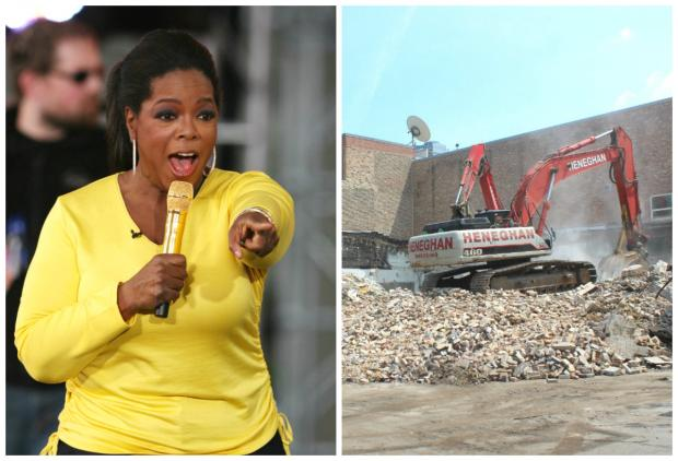 After 25 years in Chicago, demolition on Harpo Studios began this week.