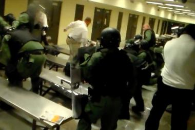 Video released late Friday shows a tense hostage situation and jail takeover at the Cook County Jail Thursday.