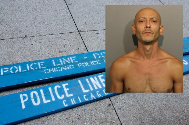Alan Cuevas, 42, is accused of threatening his neighbors with a machete.