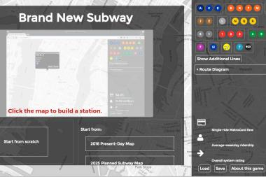 You can now alter the MTA subway system any way you like — or build a new one from scratch.