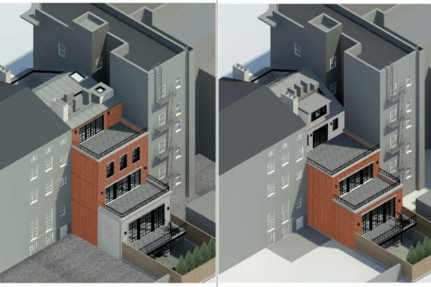 The owner of 404 W. 20th St. filed an application with the LPC in March to alter the building.