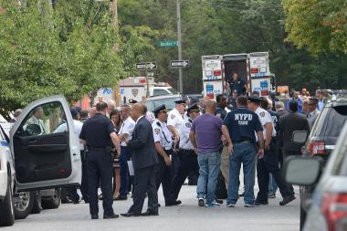 Two people were rushed to Elmhurst Hospital in serious condition after involved-shooting in Maspeth on Monday, police said, Aug. 1, 2016.