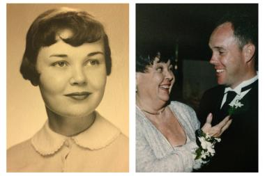 Colleen O'Shea (left) died Sunday. She is seen here in her high school graduation photo. The mother of Ald. Matt O'Shea (right) is also pictured at her son's wedding.