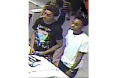 Two teens stole a wallet from an unlocked car then used a credit card to buy food at McDonald's, police said.