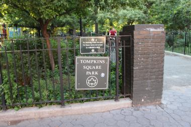 Street homelessness is down, but panhandling is up in Tompkins Square Park.