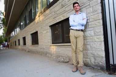 Ahmed Al-Zubaidi, 16, founded the Republican Club at Senn High School and said he wants to get more community members involved in political discourse.