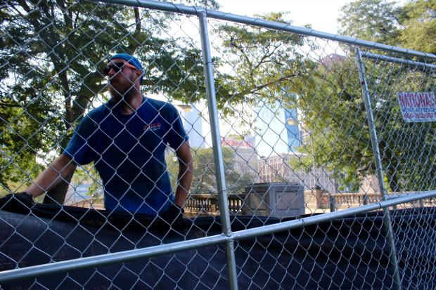Less rain and more fencing made four days of Lollapalooza less damaging to Grant Park.