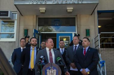 Assemblyman Ron Castorina Jr. will introduce a bill that would make assaulting an NYPD police officer a hate crime.