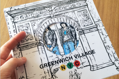 A Toronto-based artist collective launched a Kickstarter campaign to fund a coloring book showcasing Greenwich Village's historic 1960s music scene.
