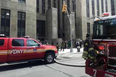 Manhattan Criminal Court was partially evacuated Friday afternoon after a transformer fire broke out in the basement, the FDNY said.