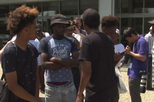 Hours after videos were released showing Chicago police officers shooting 18-year-old Paul O'Neal, Superintendent Eddie Johnson prepared to address reporters outside of police headquarters.Instead, as he approached microphones set up by various TV stations at 35thStreet and Michigan Avenue, a group of protesters began giving Johnson a piece of their mind.