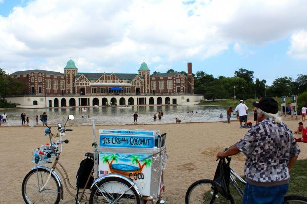 The new Humboldt Park Beach opened Friday.