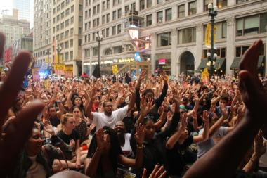 Hundreds Block Downtown Streets To Protest Police Killing Of Paul O'Neal