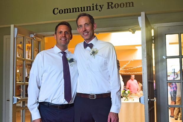 Ben Barber and David Simpson married at the Broadway Armory in Edgewater Saturday.