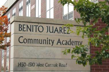 A total of 10 staff positions will be eliminated at Benito Juarez Community Academy in Pilsen, CPS officials announced.