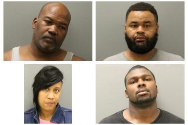 The Chicago Police Department's Narcotics Unit raided Bar 118 in Morgan Park Friday and made four arrests. Arrested were (clockwise from top left), Naikia Johnson, 41, of suburban Blue Island, Alvin Phillips, 32, of Bronzeville, Marvin Williams, 24, of Oakland and Tyesha Bozetta Oliver, 36, of suburban Calumet Park.