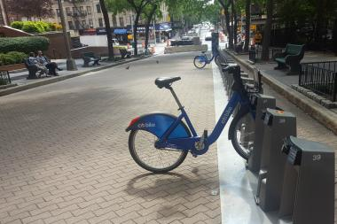 The DOT installed a Citi Bike station at East 91st Street and Second Avenue.