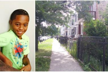 10-year-old Tavon Tanner was shot outside his West Side home Monday night.
