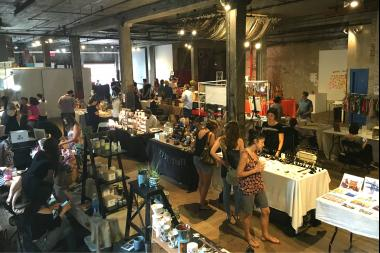 f.a.d. weekend at Invisible Dog Art Center in Boerum Hill. The makers' market will be back this weekend in the gallery.