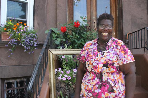 Grace Henry, the block association president of East 25th Street, accepted the award for Greenest Block in Brooklyn.