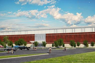 The new facility will include three turf fields, three basketball courts and four batting cages.