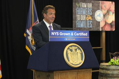 Gov. Andrew Cuomo came to The Bronx on Thursday to launch the New York State Grown & Certified food program.